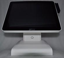 Оптовая продажа 15 дюймов 1037u 4 г оперативная память 64 SSD емкостный сенсорный экран POS системы английский VFD клиент POS терминал с MSR card reader