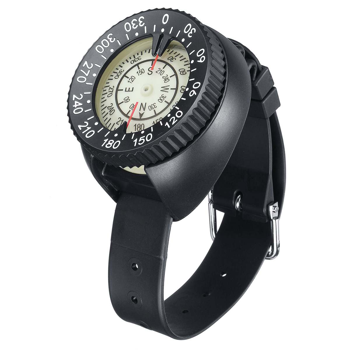 Diving Mini Wristwatch Swimming Scuba Compass Waterproof Fluorescent Professional Compass Watch Underwater Sports Accessories