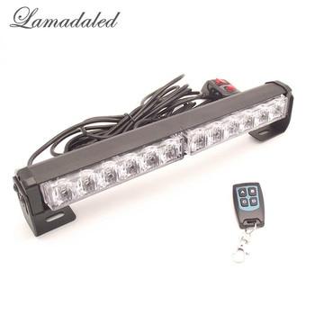 DC12V 30cm red blue remote control led high bright police car strobe lights bar automobile led emergency flash warning lights