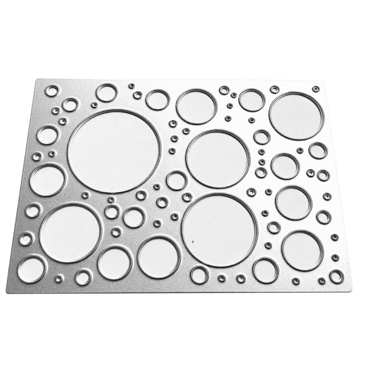 JX-LCLYL 1pc 71*99mm Hollow Circle Metal Cutting Die Stencils Scrapbooking Album Cards Template