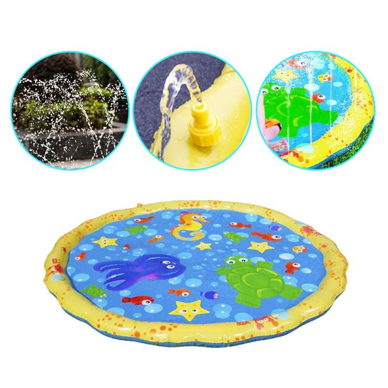 Children's Water Playing Beach Toys Inflatable Outdoor Sprinkler Cushion Thickened Inflatable Water Mat Summer Beach Toys
