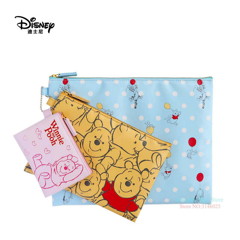 Genuine Disney 3pcs/set Mickey Mouse Multi-function Women Bags Wallet Purse Baby Care Bag Fashion Mummy Bag Girls Gifts Hot Sale