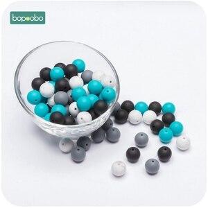 Image 5 - Bopoobo 100PC シリコーンビーズ 15 ミリメートル DIY スターターキット強化歯トレーニングシリコーンビーズベビーアクセサリー非毒性