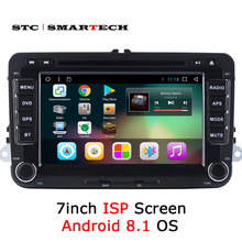 SMARTECH 2 Din Android 8.1 Car Radio GPS For VW Volkswagen Golf/Polo/Tiguan/Passat/b7/b6/Skoda/SEAT, 7 inch IPS Screen Quad Core 7 inch screen double din car radio cd dvd player for golf v bmw x5 e53 opel astra h vw passat b6 volkswagen