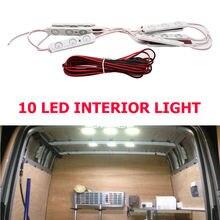 12 V Bright White led Interni kit 10 Led Luce Con 5 M di Linea Per Van Transito Barche Caravans rimorchi di Camion iP67