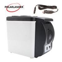 12 v duplo uso aquecedor portátil mini geladeira multi-função 48 w abs viagem casa refrigerador auto freezer carro barco geladeira