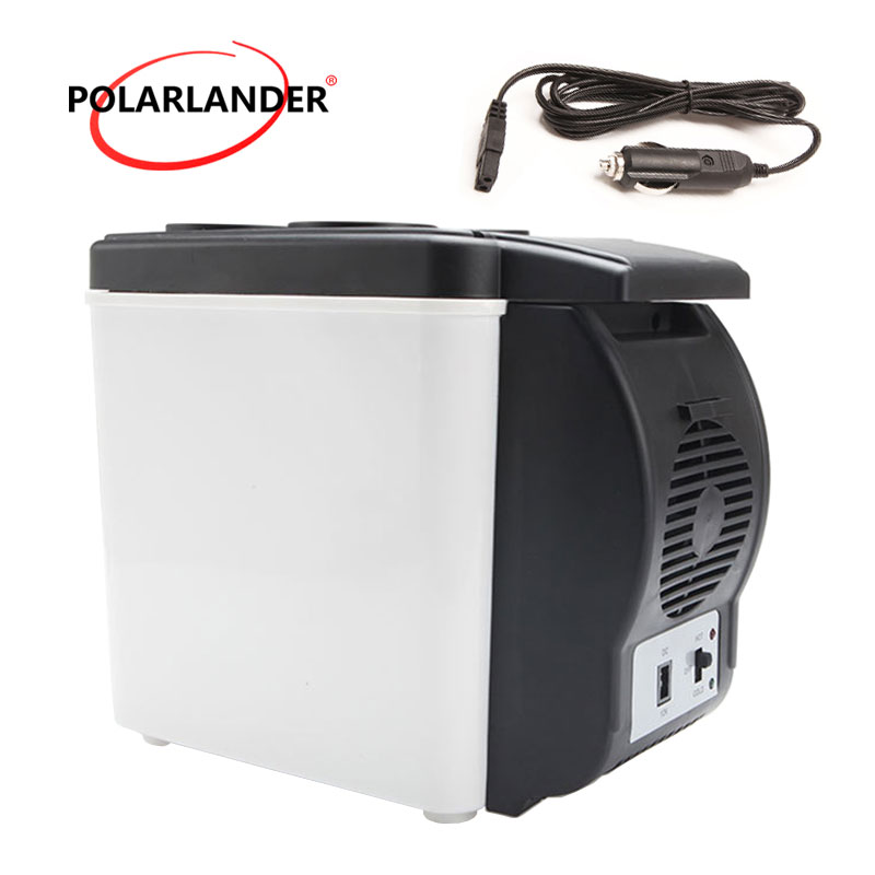 12V Double Use Warmer Portable Mini Fridge Multi Function 48W ABS Travel Home Cooler Auto Freezer Car Boat Refrigerator