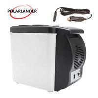 12V Double Use Warmer Portable Mini Fridge Multi Function 48W ABS Travel Home Cooler Auto Freezer Car Boat Refrigerator