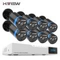 H ver sistema de cámara de seguridad 8ch Kit de vigilancia de vídeo 8 piezas 1080 P cámara CCTV 2.0MP calle de vigilancia de vídeo al aire libre