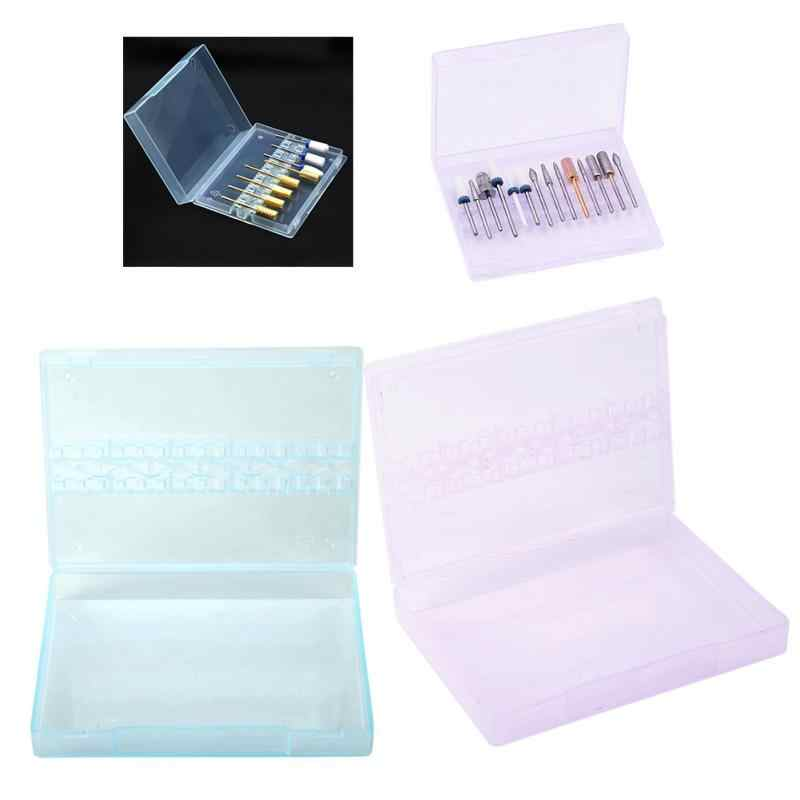14 Grids Nail Drill Bits Storage Box Nail Polishing Heads Display Case Nail Tools Container Holder Container Organizer Tool dc