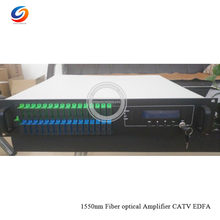 Hot selling SC/APC -SC/UPC CATV EDFA with WDM Multi Ports 1550nm High Power Optical Amplifier EDFA 16*22dBm(China)