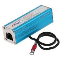 RJ45 Gigabit Ethernet Network Surge Protector Thunder Lightning Arrester