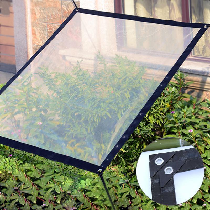 Multi-Purpose Waterproof Poly Tarp Cover Transparent Rainproof Shed Cloth Insulation Anti-freezing Bird-proof Windshield