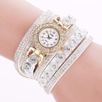 Women Rhinestone Bracelet Watch
