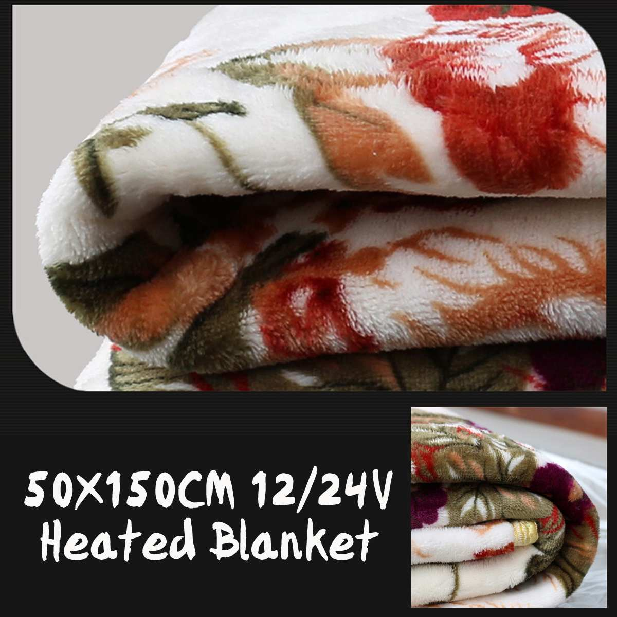 50x150cm Winter Heated 12V/24V Car Electrical Blanket New Energy Saving Warm Car Heating Blanket Constant Temperature