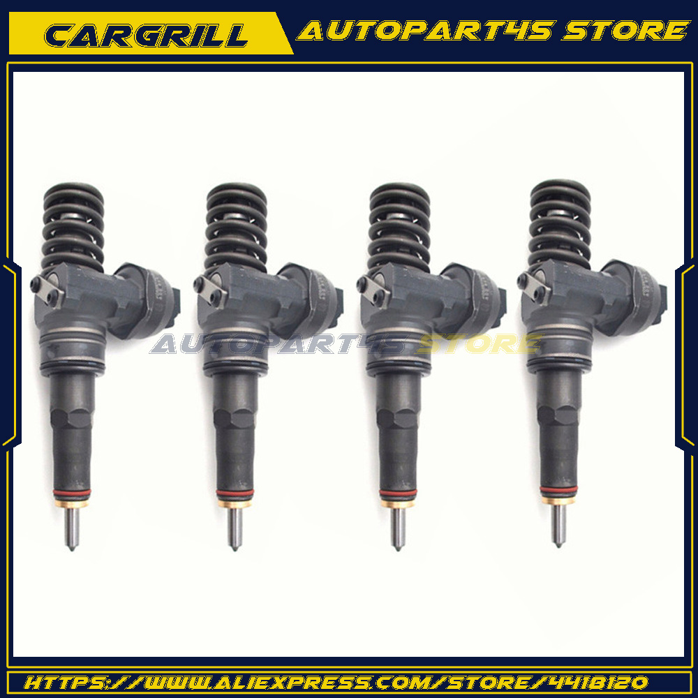 4X Remanufactured 038130073BA CD Fuel Injector For VW Passat Audi Skoda 1.9 TDI Bosch Diesel