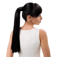 YONNA 80g 14 16 Thick Human Hair Ponytail Wrap Around Horsetail Clips In Straight Non remy hair