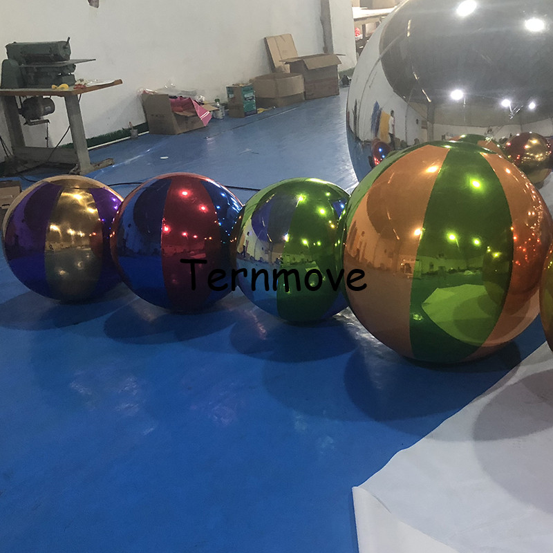 Светоотражающий гигантский надувной зеркальный шар, надувной шарик для зеркала, ПВХ, украшение садового орнамента для дома