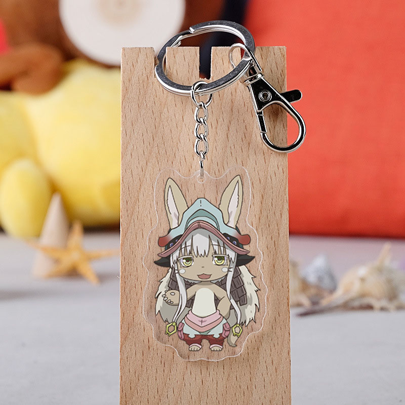 Anime Made In Abyss Cosplay Keychain Japanese Cartoon Figure Rico Nanachi Car Key Holder Chain Pendants Keyrings Jewelry
