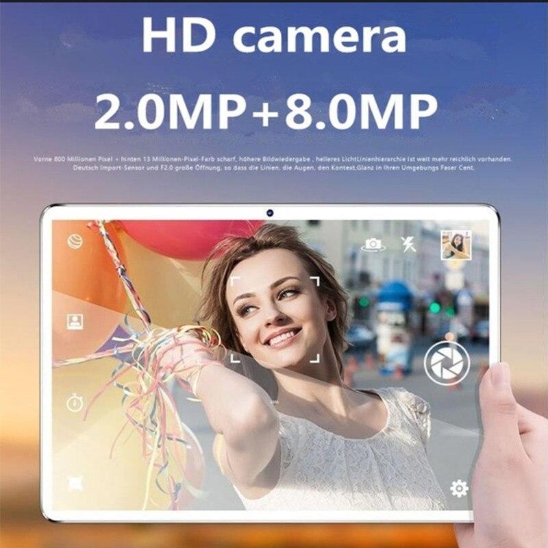 10.1 pouces 2.5D écran 3G 4G LTE double carte SIM tablette Octa Core 8GB RAM 128GB ROM Android 9.0 tablettes Wifi GPS FM - 2