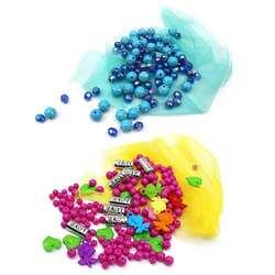 Дети Руководство DIY бисера разноцветные акриловые бусины браслет цепочки и ожерелья детские подарки PNLO