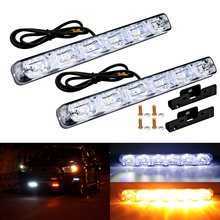 2Pcs Universal Sequential Flowing Daytime Running Light Turn Signal Lamp Waterproof LED DRL Kit Day Auto Driving