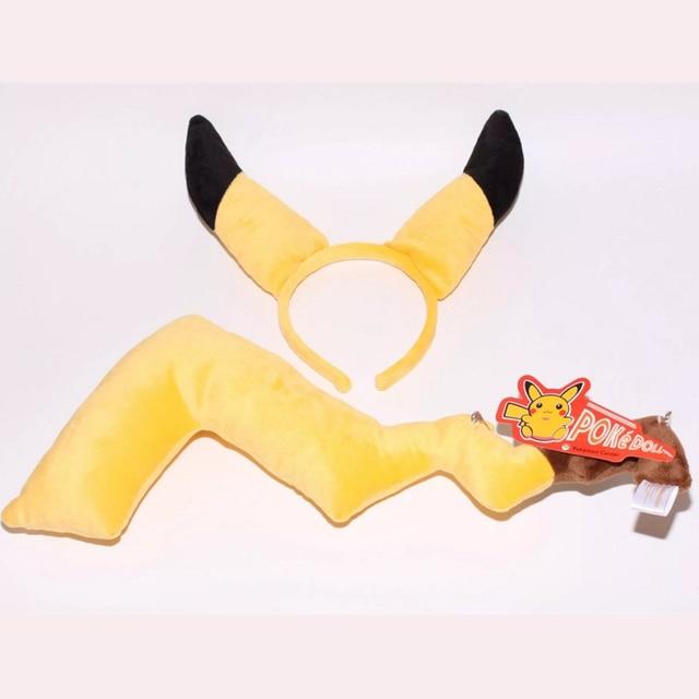 Japan Hot Anime Headwear Pokemon Pikachu Cosplay Fox Ears Nekomimi