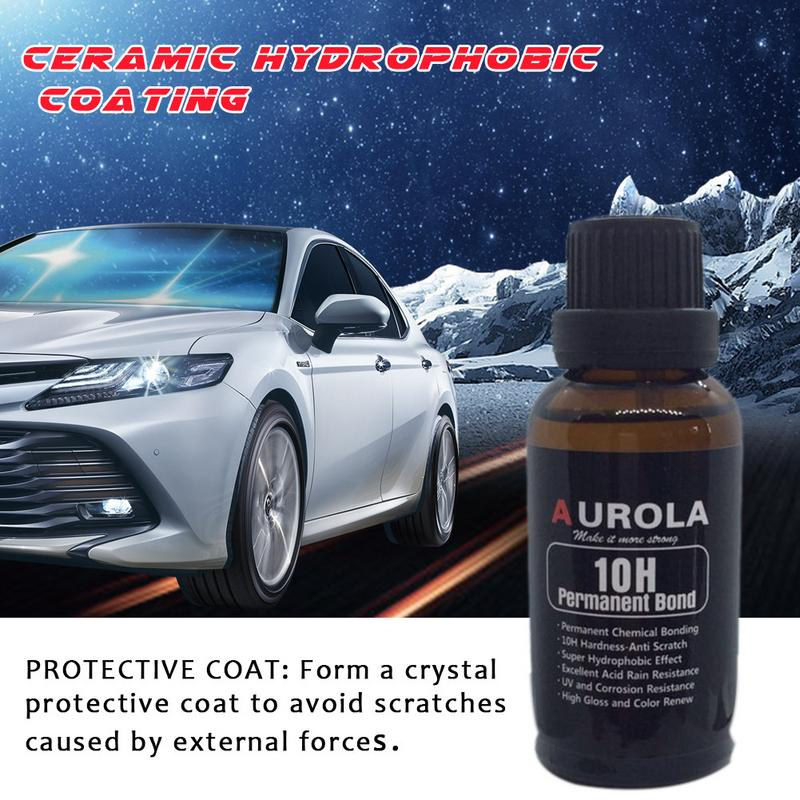 10H Automotive Crystal Plating Coating Film Nano Repair Agent Liquid Car Scratches Polishing Oxidation Coating Car Care Products