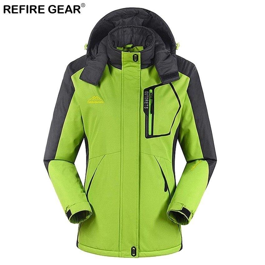 Refire Gear sports de plein air femmes hiver intérieur polaire coupe-vent veste chaude manteaux Camping Trekking randonnée Ski vestes femme - 3