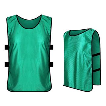 6 sztuk dziecięce piłkarskie Pinnies szybkie suszenie koszulki piłkarskie dzieci Kid Team sport piłka nożna trening piłkarski praktyka kamizelka sportowa tanie i dobre opinie Dobrze pasuje do rozmiaru wybierz swój normalny rozmiar Bibs soccer SHORT Materiał funkcyjny