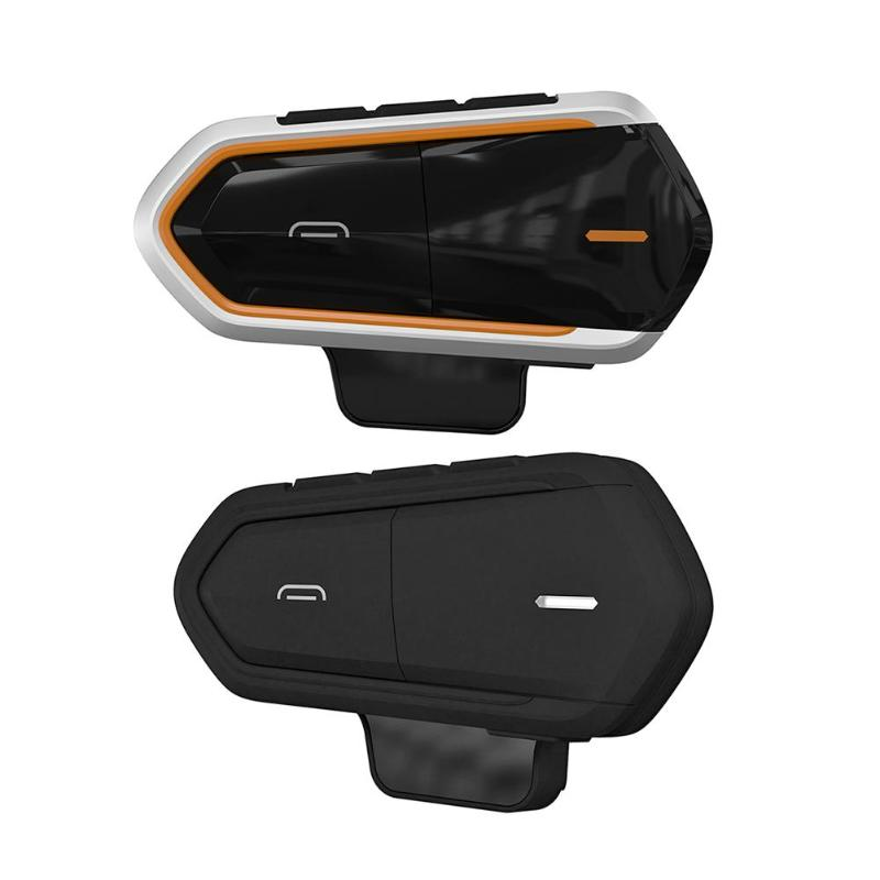 Motorcycle Intercom Helmet Headsets Wireless Bluetooth Interphone Handsfree Speaker FM Radio for 2 Riders MIC and EarphoneMotorcycle Intercom Helmet Headsets Wireless Bluetooth Interphone Handsfree Speaker FM Radio for 2 Riders MIC and Earphone