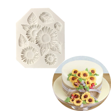 3D Silicone Mold Sunflower Shape DIY Chocolate Fondant Jelly Molds Cake Decorating Tools New Arrival