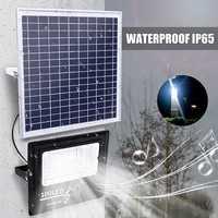 Outdoor Lamp 50/100/192/300 LED Solar Power 50W/100W/200W/300W Music Flood Light bluetooth Speaker IP65 Waterproof Energy Saving