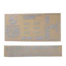 Металлические наклейки для геля мяч бластер картридж приемник M4 MK18-белый