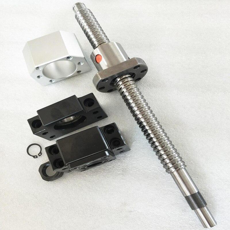 Jeu de vis à billes: SFU1204 vis à billes CNC 550mm C7 avec extrémité usinée + écrou à vis à billes 1204 + Support d'extrémité BK/BF10 + coupleur