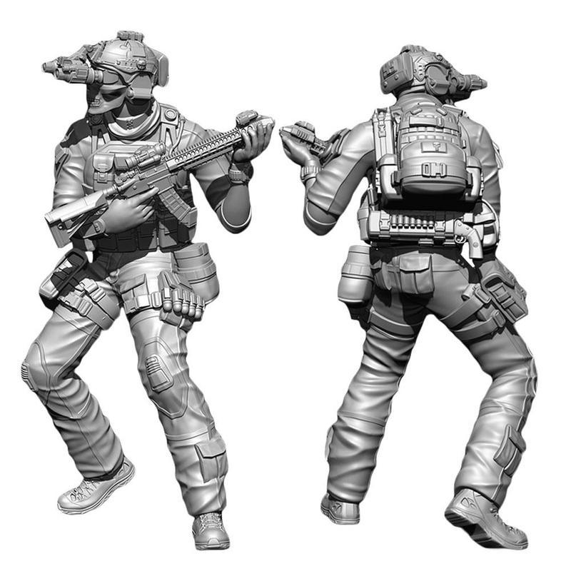 1:35 Scale Model Figures Resin Soldier Model DIY Assembling Toys Fashion Handicrafts Resin Soldier DIY3160