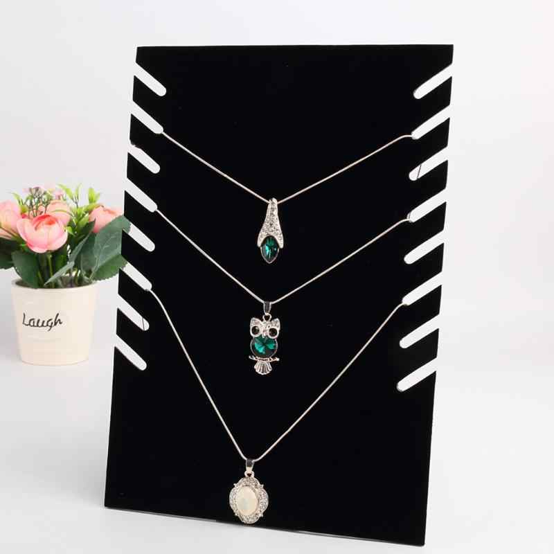 Necklace  Pendant Chain Display Holder Stand Velvet Easel Organizer Rack