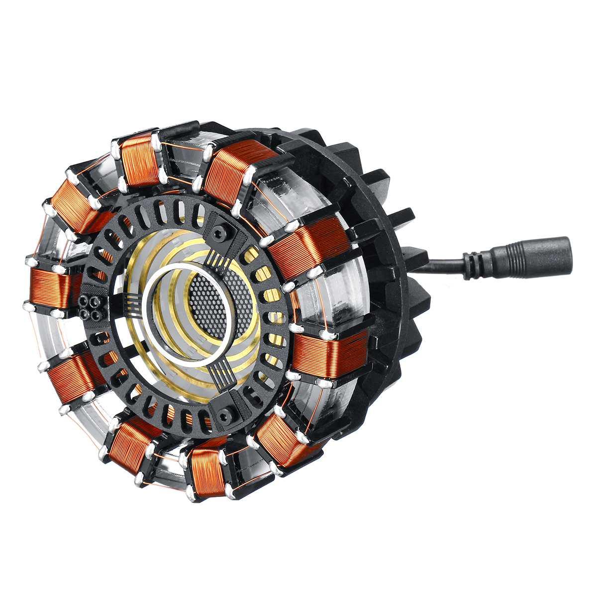 1:1 échelle Arc réacteur Action Figure lumière à distance Arc MK1 bricolage pièces modèle assemblé jouets lampe de poitrine en alliage d'aluminium Led