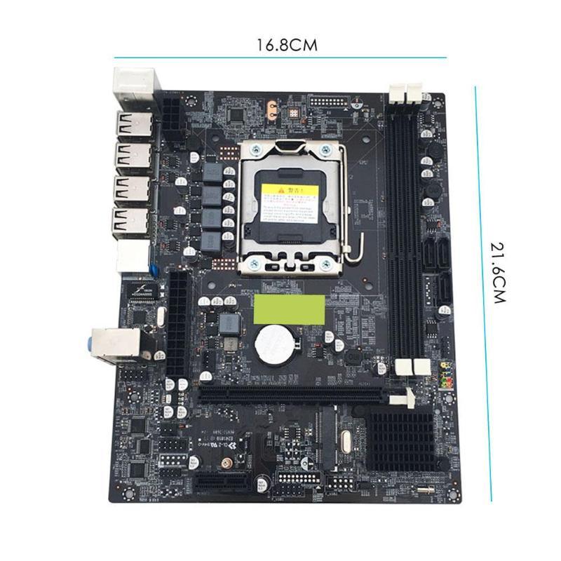 X79 LGA 1356 Pin carte mère de bureau RECC DDR3 serveur CPU carte mère DDR3 Double Double canal PCI-E X16 pour Intel H61 Hexa Core - 6