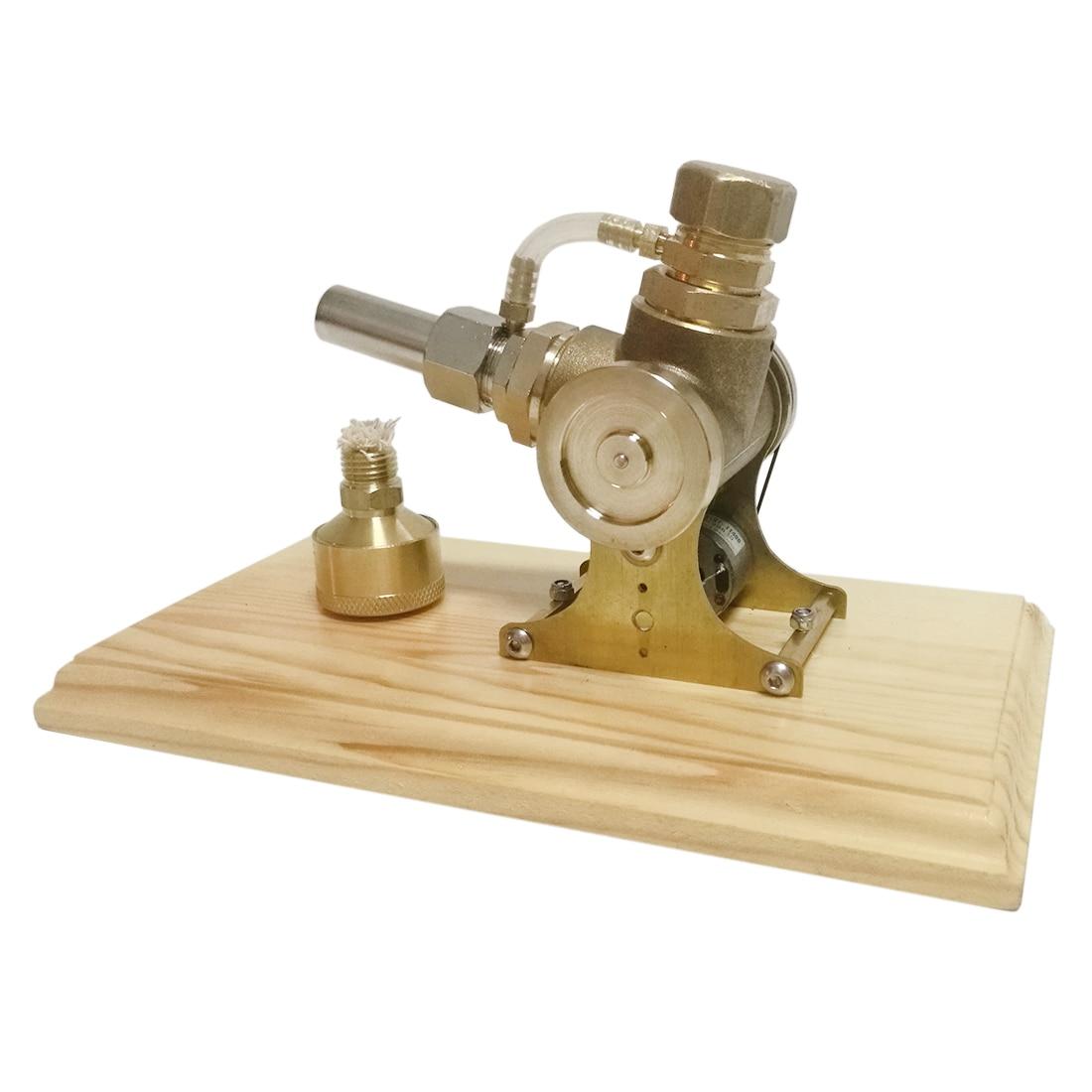 Updated Version Pure Copper V-shape Single-cylinder Double Flywheel Stirling Engine Model ToyUpdated Version Pure Copper V-shape Single-cylinder Double Flywheel Stirling Engine Model Toy