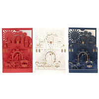 Decoration paper cards 18*12.5CM White/dark blue/red