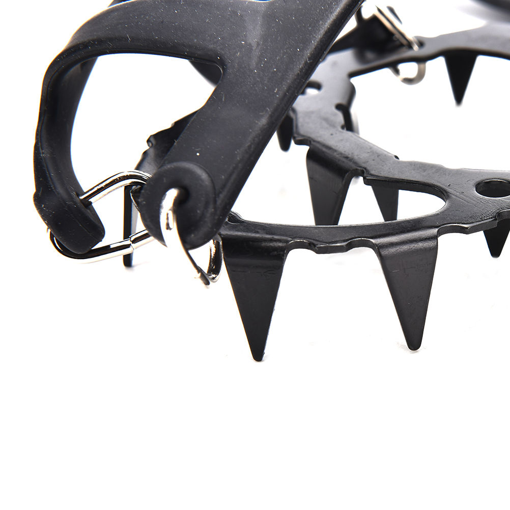 Non-slip Claws Ice Crampons Stainless Steel Gripper Ski Snow Cleats Hiking Climbing Shoes Chain Anti Slip Shoe Boot Grips