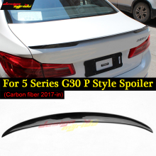Carbon Fiber For G30 Spoiler P style Rear Custom Wing for BMW 5 Series 530i 540i Base Sedan 4-Door 2017-18