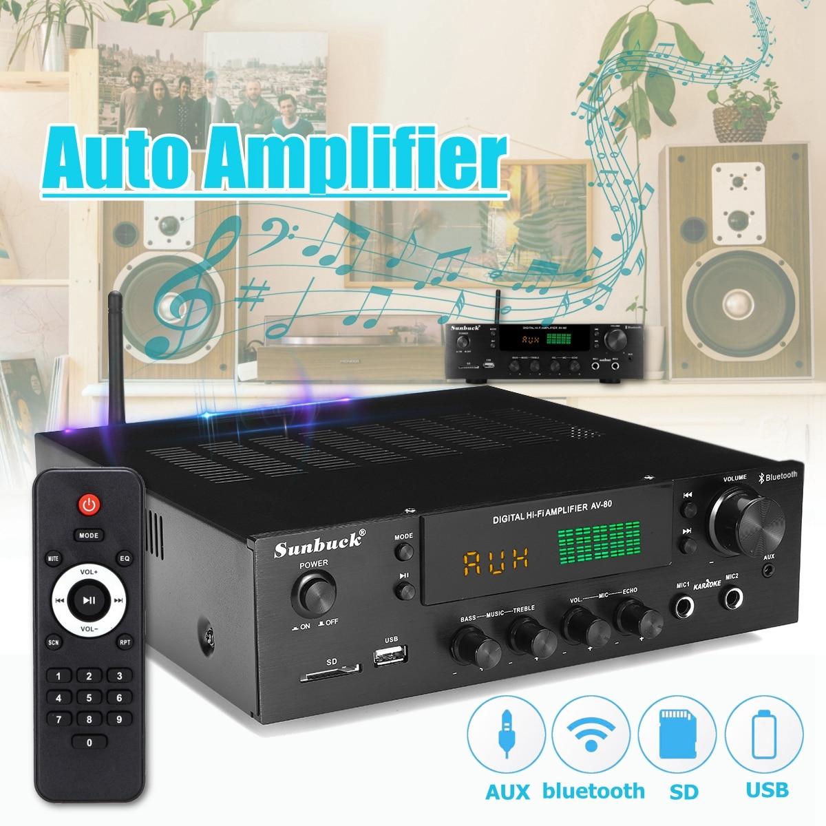 220V-240V 1388 2*200W bluetooth Stereo 2.0 Amplifier HiFi Power Remote Control USB SD Aux Mic Input Auto Amplifier220V-240V 1388 2*200W bluetooth Stereo 2.0 Amplifier HiFi Power Remote Control USB SD Aux Mic Input Auto Amplifier
