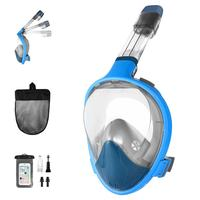 RUNACC Diving Mask Full Face scuba Mask Foldable Snorkeling mask swimming underwater mask with Waterproof Phone Pouch Earplug