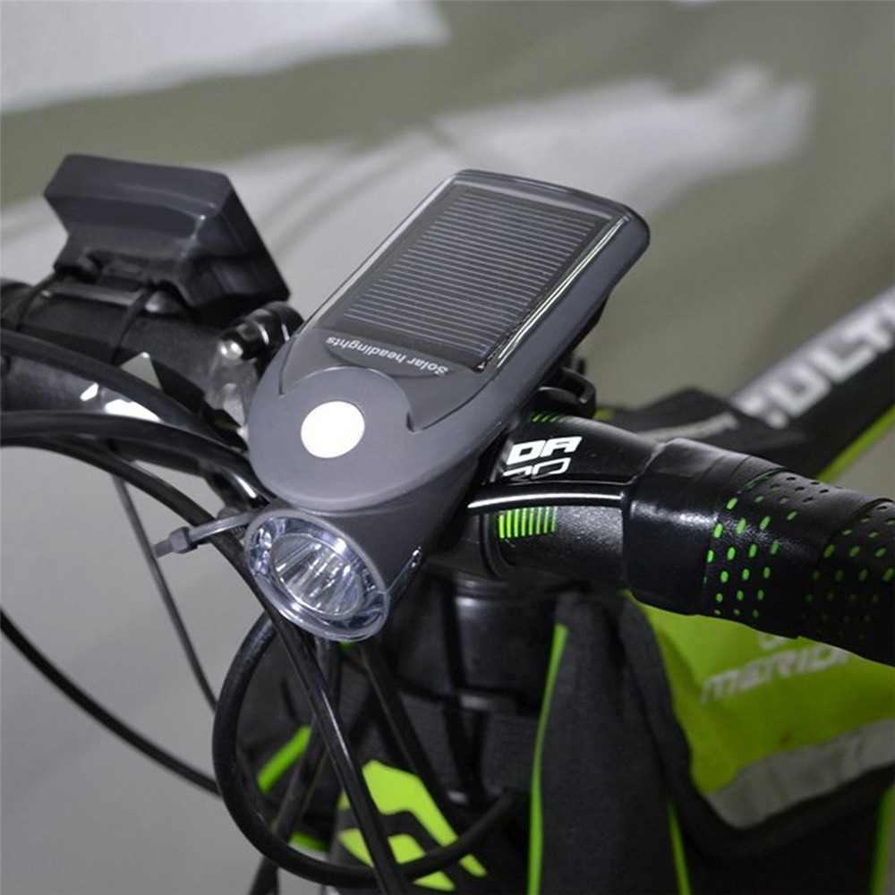 Bicycle Accessories Solar Power Bicycle Light 360-degree Rotating Bike Front Light Usb Charging Flashlight Cycling Waterproof Torch Bike Headlight To Enjoy High Reputation In The International Market