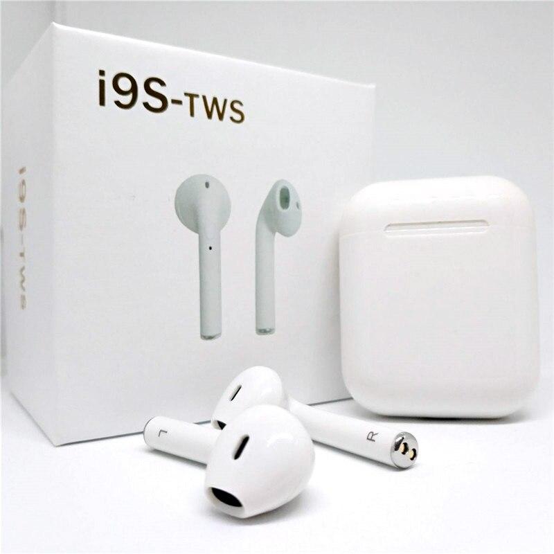 i9S TWS Wireless Earbuds Double Ear Mini 5.0 Bluetooth Earphones Stereo Binaural Calls Mic Pods Mini Wireless Headset For IPhone