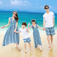 Daughter Dresses For T Shirts For Family Held Off And Mother Father Son Small Shirts, Beach Pants Favourite