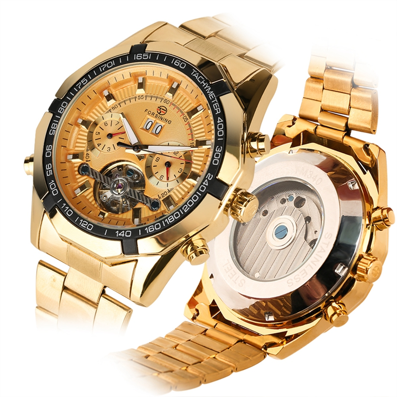 Watches Men Skeleton Automatic Mechanical Watch Gold Skeleton Vintage Clock Man Mens Watch Top Brand Luxury Relogio Masculino