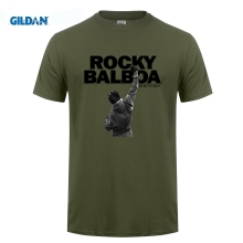 GILDAN Fashion Men ROCKY BALBOA Printed T Shirts Famous Movie POSTER scream t-shirts Top Tee